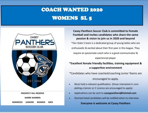 Women's SL5 Coach wanted for 2020