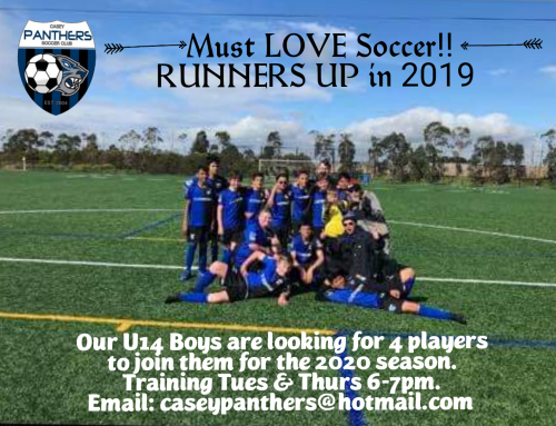 Players Wanted U14s 2020